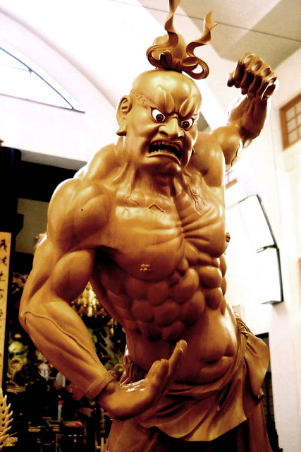 仁王像 米桧 総高240cm