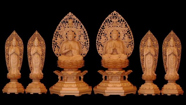 釈迦如来 多宝如来 四菩萨像