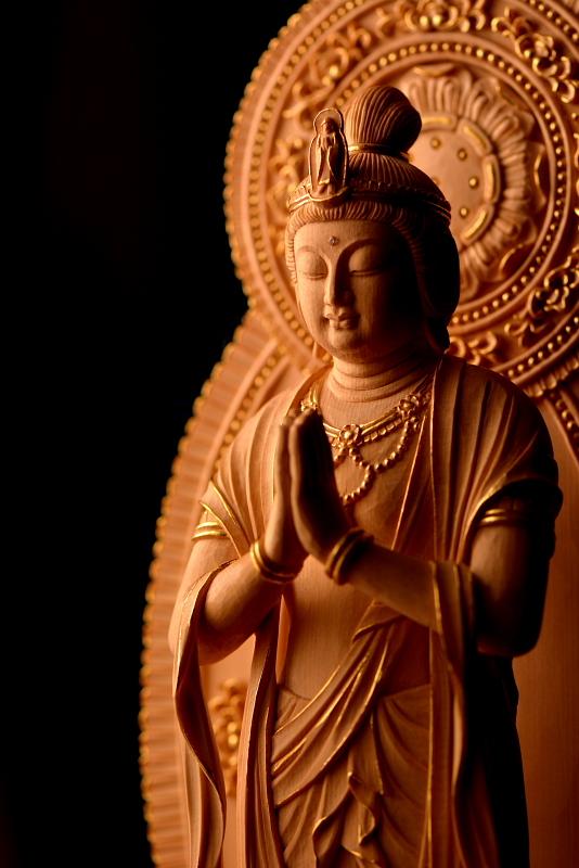 観音菩薩立像 | 特注の仏像販売・仏像彫刻の専門店の仏像彫刻原田