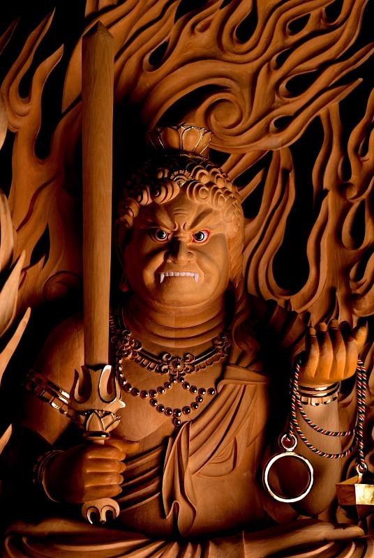 不動明王像 | 特注の仏像販売・仏像彫刻の専門店の仏像彫刻原田